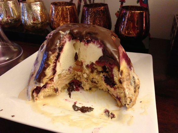 Christmas Pudding Bombe