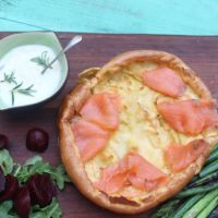 Giant Yorkshire Pudding with Smoked Salmon - Jamie Oliver