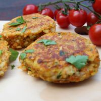 Gordon Ramsay's Halloumi, Zucchini and Herb Cakes