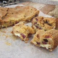 White Chocolate and Cranberry Blondies Revisited