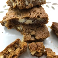 Butterscotch White Chocolate Brownies
