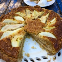 Pear and Hazelnut Tart - Jamie Cooks Italy