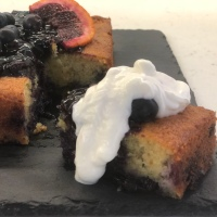 Blueberry, Almond and Orange Cake